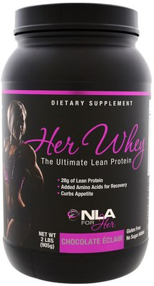 Deportes, Productos Deportivos Para Mujeres NLA for Her, Her Whey, Ultimate Lean Protein, Chocolate Eclair, 2 lbs (905 g)