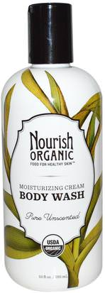 Baño, Belleza, Gel De Ducha Nourish Organic, Body Wash, Pure Unscented, 10 fl oz (295 ml)