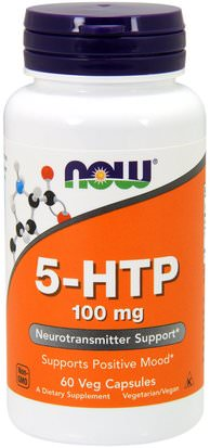 Suplementos, 5-Htp, 5-Htp 100 Mg Now Foods, 5-HTP, 100 mg, 60 Veg Capsules