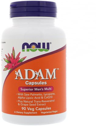 Vitaminas, Hombres Multivitaminas, Hombres Now Foods, Adam Superior Mens Multi, 90 Veg Capsules