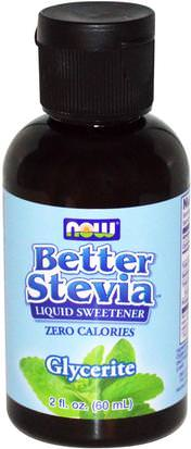Comida, Edulcorantes, Stevia Now Foods, Better Stevia Liquid Sweetener, Glycerite, 2 fl oz (60 ml)