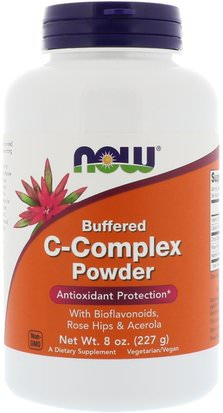 Vitaminas, Vitamina C, Escaramujos Now Foods, Buffered C-Complex Powder, 8 oz (227 g)