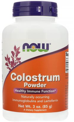 Suplementos, Lactoferrina, Productos Bovinos, Calostro Now Foods, Colostrum Powder, 3 oz (85 g)