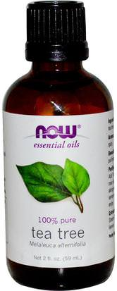 Baño, Belleza, Aceites Esenciales De Aromaterapia, Aceite De Árbol De Té Now Foods, Essential Oils, Tea Tree, 2 fl oz (59 ml)