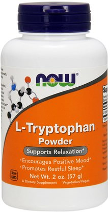 Suplementos, L Triptófano Now Foods, L-Tryptophan Powder, 2 oz (57 g)