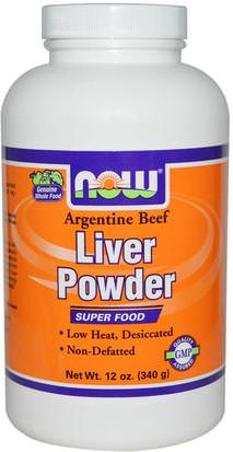 Suplementos, Productos De Hígado, Hígado Desecado Now Foods, Liver Powder, 12 oz (340 g)