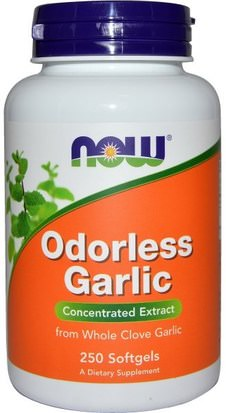 Suplementos, Antibióticos, Ajo Now Foods, Odorless Garlic, Concentrated Extract, 250 Softgels