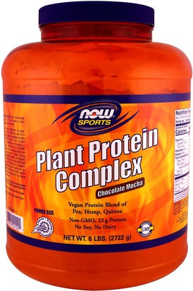 Suplementos, Proteína Now Foods, Plant Protein Complex, Chocolate Mocha, 6 lbs. (2722 g)