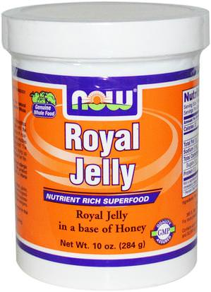 Suplementos, Productos De La Abeja, Jalea Real Now Foods, Royal Jelly, 10 oz (284 g)