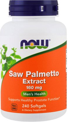 Salud, Hombres Now Foods, Saw Palmetto Extract, 160 mg, 240 Softgels