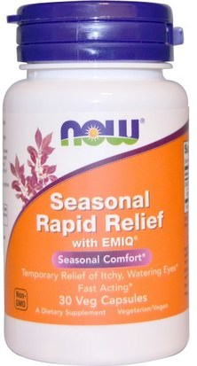 Salud, Alergias, Alergia Now Foods, Seasonal Rapid Relief, With EMIQ, 30 Veggie Caps