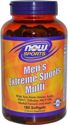 Vitaminas, Hombres, Multivitaminas Now Foods, Sports, Mens Extreme Sports Multi, 180 Softgels