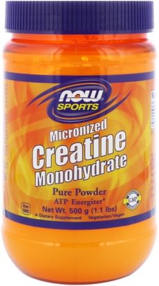 Deportes, Creatina En Polvo Now Foods, Sports, Micronized Creatine Monohydrate, 1.1 lbs (500 g)