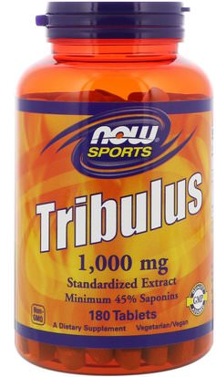 Deportes, Tribulus Now Foods, Sports, Tribulus, 1,000 mg, 180 Tablets