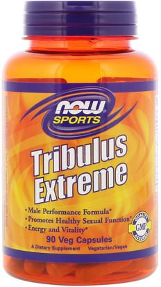 Deportes, Tribulus Now Foods, Sports, Tribulus Extreme, 90 Veg Capsules