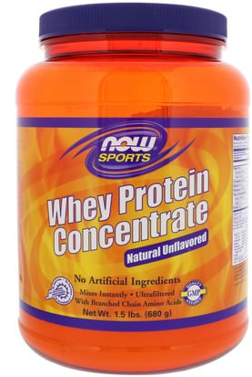 Suplementos, Proteína De Suero De Leche Now Foods, Sports, Whey Protein Concentrate, Natural Unflavored, 1.5 lbs (680 g)