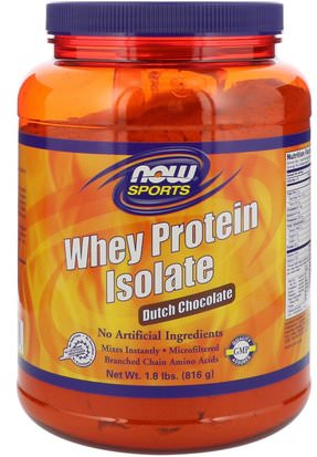 Suplementos, Proteína De Suero De Leche Now Foods, Sports, Whey Protein Isolate, Dutch Chocolate, 1.8 lbs (816 g)
