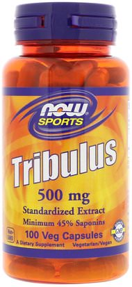 Deportes, Tribulus Now Foods, Tribulus, 500 mg, 100 Veg Capsules