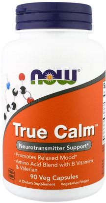 Salud, Estado De Ánimo, Ansiedad Now Foods, True Calm, 90 Veggie Caps