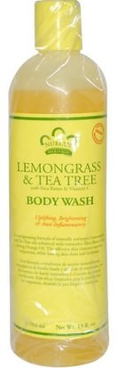 Baño, Belleza, Gel De Ducha Nubian Heritage, Body Wash, Lemongrass & Tea Tree, 13 fl oz (384 ml)