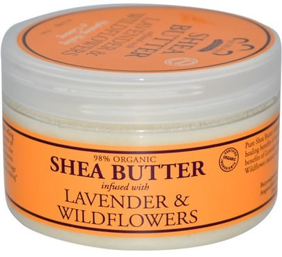 Baño, Belleza, Manteca De Karité Nubian Heritage, Shea Butter, Infused with Lavender & Wildflowers, 4 oz (114 g)