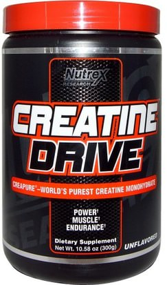 España Nutrex Research Labs, Creatine Drive, Unflavored, 10.58 oz (300 g)