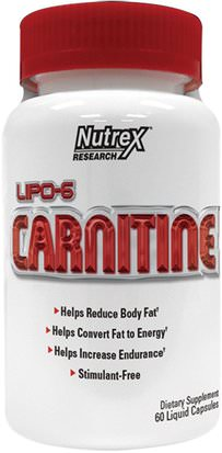 Deportes, Entrenamiento Nutrex Research Labs, Lipo-6 Carnitine, 60 Liquid Capsules
