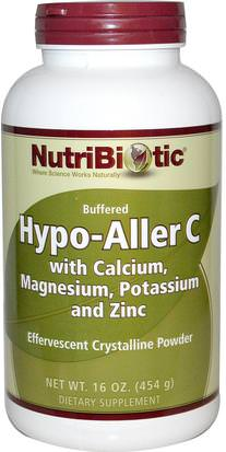 Vitaminas, Vitamina C, Vitamina C En Polvo Y Cristales NutriBiotic, Hypo-Aller C, Buffered, Effervescent Crystalline Powder, 16 oz (454 g)