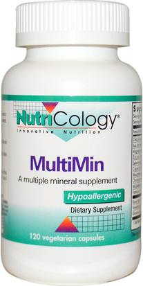 Suplementos, Minerales, Minerales Múltiples Nutricology, MultiMin, 120 Veggie Caps