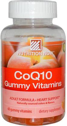 Suplementos, Coenzima Q10, Coq10, Productos Sensibles Al Calor Nutrition Now, CoQ10 Gummy Vitamins, Peach Flavor, 60 Gummy Vitamins