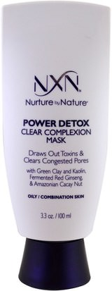 Belleza, Cuidado Facial, Piel NXN, Nurture by Nature, Power Detox, Clear Complexion Mask, Oily / Combination Skin, 3.3 oz (100 ml)