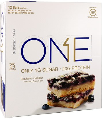 Comida, Tentempiés, Deportes Oh Yeah!, One Bar, Blueberry Cobbler, 12 Bars, 2.12 oz (60 g) Each