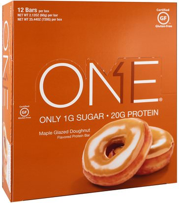 Comida, Tentempiés, Deportes Oh Yeah!, One Bar, Maple Glazed Doughnut, 12 Bars, 2.12 oz (60 g) Each