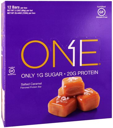 Comida, Tentempiés, Deportes Oh Yeah!, One Bar, Salted Caramel, 12 Bars, 2.12 oz (60 g) Each