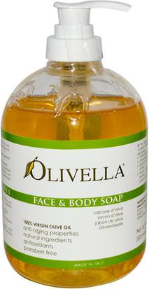 Baño, Belleza, Jabón, Gel De Ducha Olivella, Face and Body Soap, 16.9 fl oz (500 ml)