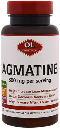 Deportes, Deporte Olympian Labs Inc., Agmatine, 500 mg, 60 Veggie Caps