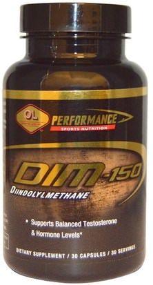 Salud, Hombres, Testosterona, Suplementos, Diindolilmetano (Tenue) Olympian Labs Inc., Performance Sports Nutrition, DIM, 150 mg, 30 Capsules