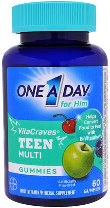 Vitaminas, Multivitaminas, Niños Multivitaminas, Salud, Hombres One-A-Day, One A Day for Him, VitaCraves, Teen Multi, 60 Gummies