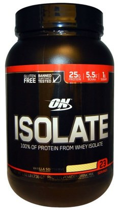 Deportes Optimum Nutrition, Isolate, Vanilla Softserve, 1.62 lb (736 g)