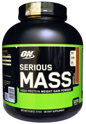 Deportes Optimum Nutrition, Serious Mass, Chocolate Peanut Butter, 6 lbs (2.72 kg)