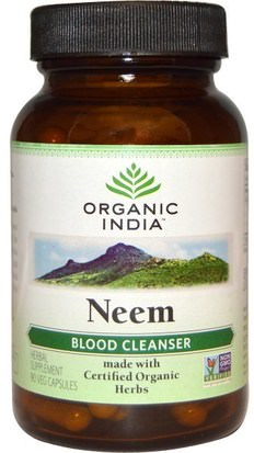 Hierbas Organic India, Neem, Blood Cleanser, 90 Veggie Caps