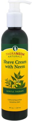 Belleza, Baño Organix South, TheraNeem Naturals, Shave Cream with Neem, Gentle Therape, 8 fl oz (237 ml)
