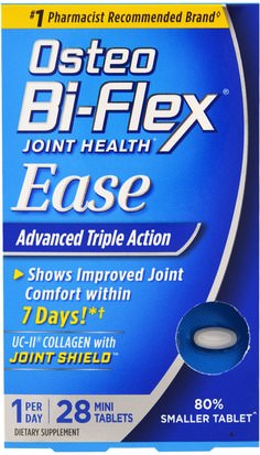 Salud, Hueso, Osteoporosis, Salud De Las Articulaciones Osteo Bi-Flex, Joint Health, Ease, Advanced Triple Action, 28 Mini Tablets