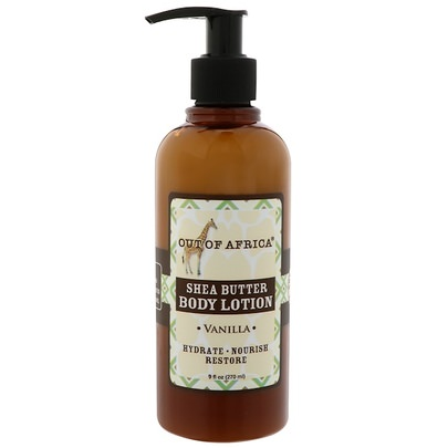 Baño, Belleza, Loción Corporal, Manteca De Karité Out of Africa, Shea Butter Body Lotion, Vanilla, 9 fl oz (270 ml)