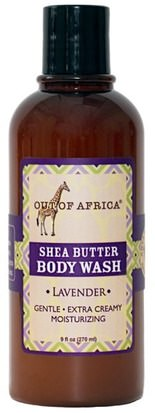 Baño, Belleza, Gel De Ducha Out of Africa, Shea Butter Body Wash, Lavender, 9 fl oz (270 ml)