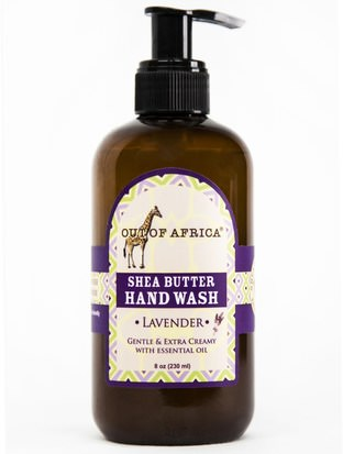Baño, Belleza, Jabón Out of Africa, Shea Butter Hand Wash, Lavender, 8 oz (230 ml)