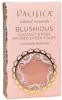 Baño, Belleza, Maquillaje, Rubor Pacifica, Blushious, Coconut & Rose Infused Cheek Color, Camellia, 0.10 oz (3.0 g)