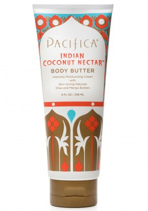 Salud, Piel, Mantequillas, Manteca Corporal Pacifica, Body Butter, Indian Coconut Nectar, Shea and Mango Butters, 8 fl oz (236 ml)