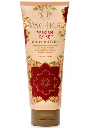 Salud, Piel, Mantequillas, Manteca Corporal Pacifica, Body Butter, Persian Rose, 8 fl oz (236 ml)