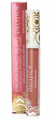 Baño, Belleza, Cuidado Labial, Brillo Labial, Lápiz De Labios, Brillo, Liner Pacifica, Enlightened Gloss, Nourishing Mineral Lip Shine, Nudist, 0.10 oz (2.8 g)